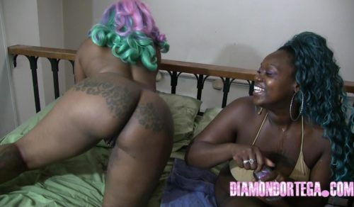 Sexual Chocolate Double Dildo play